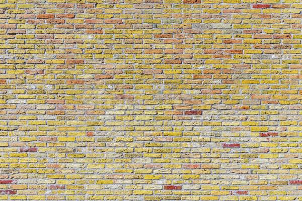 Oude harmonisch muur Geel muur achtergrond Stockfoto © meinzahn