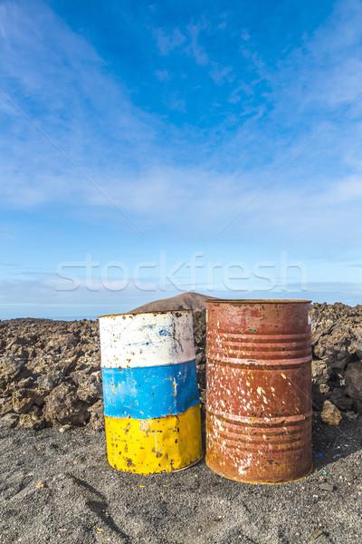 Edad Rusty colorido volcánico paisaje parque Foto stock © meinzahn