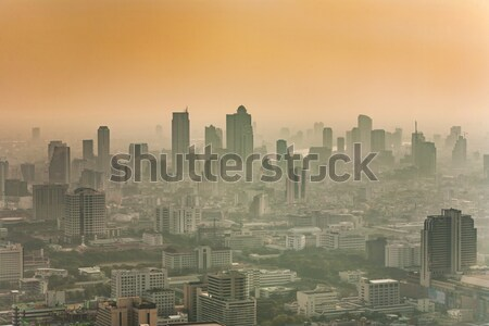 View across Bangkok skyline  Stock photo © meinzahn
