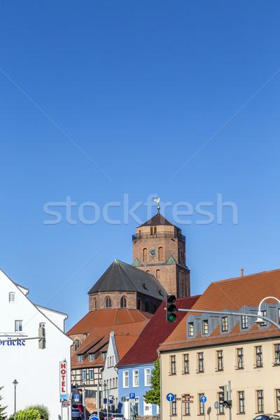 Gótico igreja blue sky céu parede pedra Foto stock © meinzahn