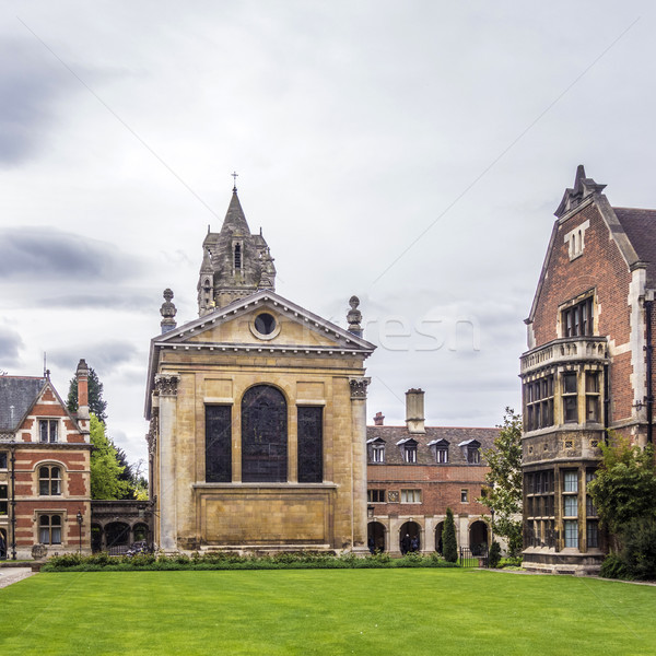 Velho tribunal faculdade universidade cambridge inglaterra Foto stock © meinzahn