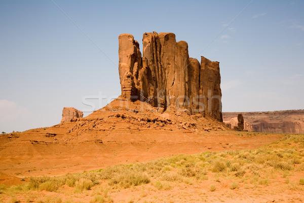 ünlü manzaralı vadi deve dev kumtaşı Stok fotoğraf © meinzahn