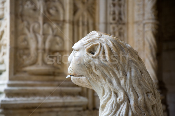 water lion in the beautiful Jeronimos Monastery in Lisbon, Belem Stock photo © meinzahn