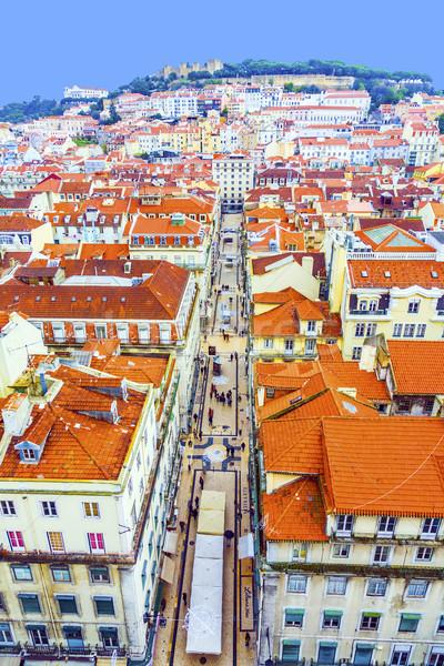 ポルトガル パノラマ リスボン ポイント サンタクロース 建物 ストックフォト © meinzahn