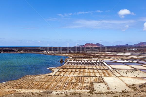 Só finomító Spanyolország víz textúra tájkép Stock fotó © meinzahn