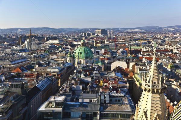 view over Vienna in snow  Stock photo © meinzahn