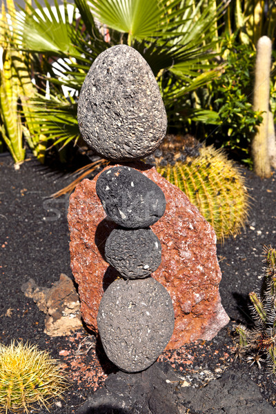stone sculptures build from volcanic stones  Stock photo © meinzahn