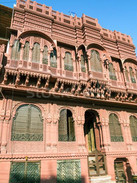 beautiful old haveli in Bikaner Stock photo © meinzahn