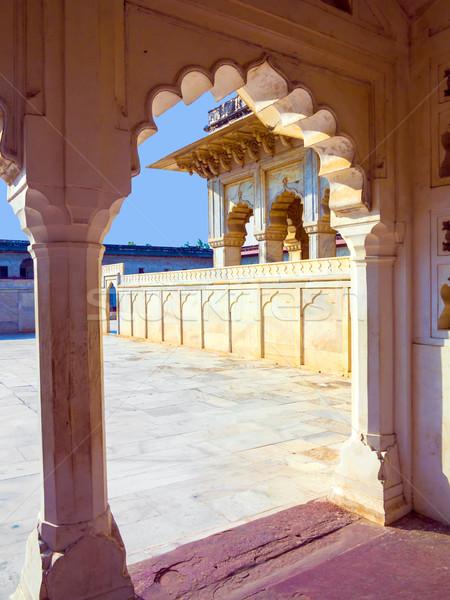 Piros erőd kapu India unesco világ Stock fotó © meinzahn