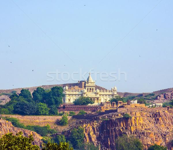 jaswant thada jodhpur Stock photo © meinzahn