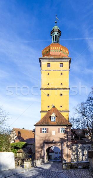 Kapu híres öreg romantikus középkori város Stock fotó © meinzahn