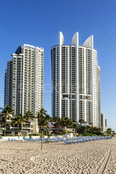Sunny Isles Beach is a city located in Miami County, Florida Stock photo © meinzahn
