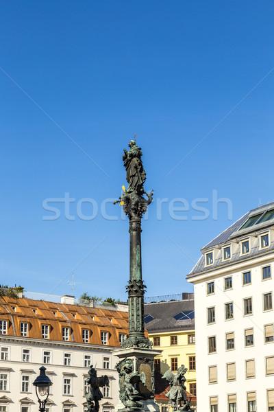 marian column in vienna am Hof Stock photo © meinzahn