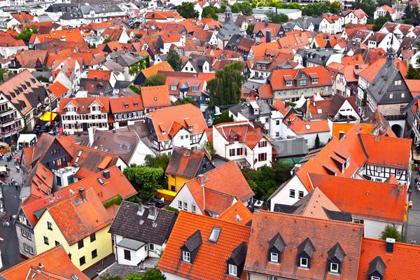 Vieux historique ville Allemagne rouge architecture Photo stock © meinzahn