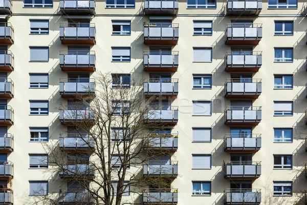 generic house facade with balconies Stock photo © meinzahn
