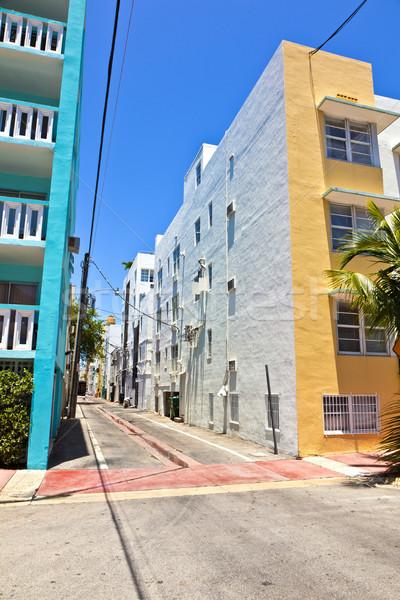 Velho pintado tijolo casas sul Miami Foto stock © meinzahn