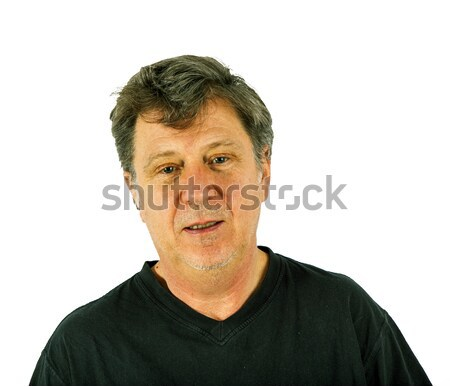 Portret man verdriet gezicht ogen schoonheid Stockfoto © meinzahn