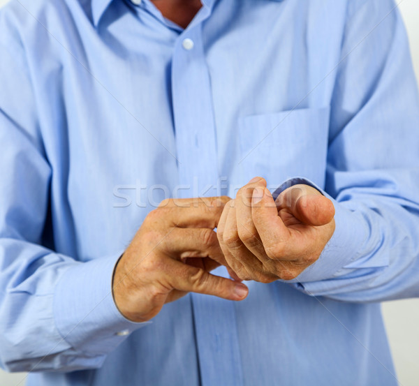 человека рубашку рук свадьба счастливым пространстве Сток-фото © meinzahn
