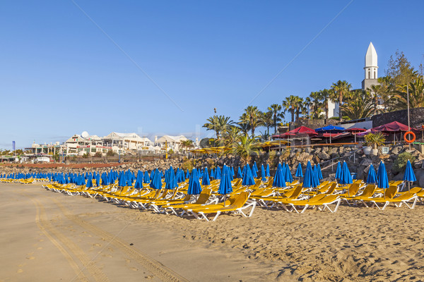 beach of Playa Blanca without people in early morning Stock photo © meinzahn