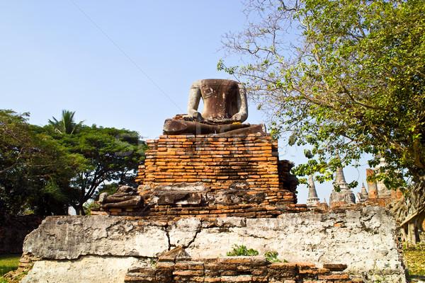Famoso templo Buda estatua altar real Foto stock © meinzahn
