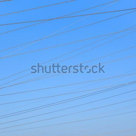 Tensione torre cielo blu cielo nubi Foto d'archivio © meinzahn