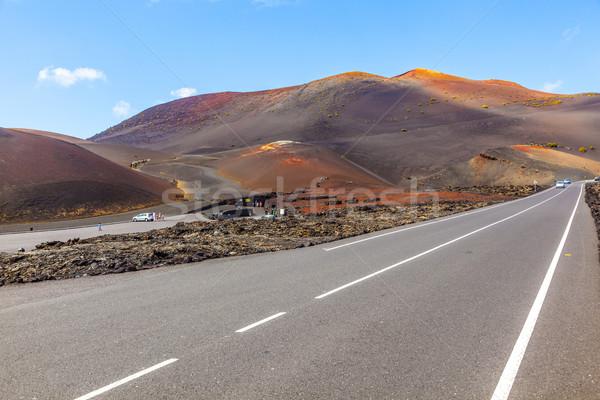 Famoso parque calle carretera naturaleza desierto Foto stock © meinzahn