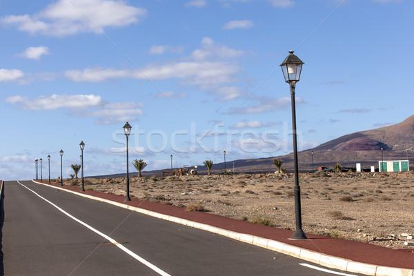 new roads for the development area in Lanzarote  Stock photo © meinzahn
