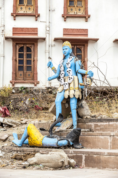 Shiva heykel göl renkli şehir ölüm Stok fotoğraf © meinzahn