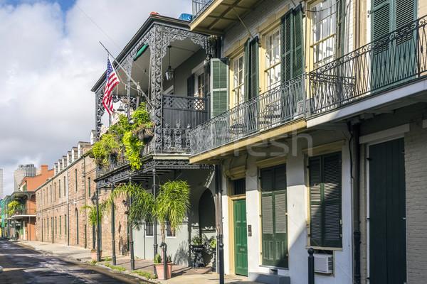 исторический зданий французский квартал улице Бар Сток-фото © meinzahn