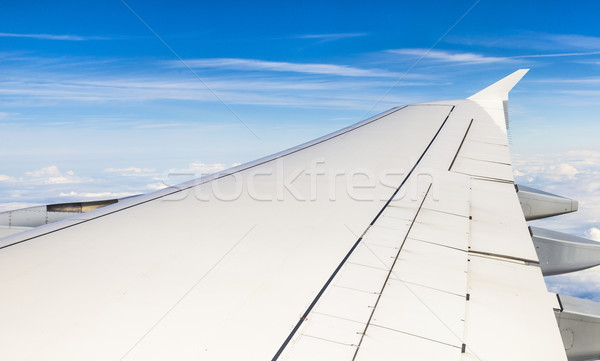 Wing aircraft in altitude during flight  Stock photo © meinzahn