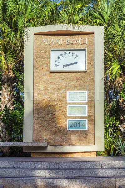 Palmboom art deco architectuur oceaan drive Miami Stockfoto © meinzahn