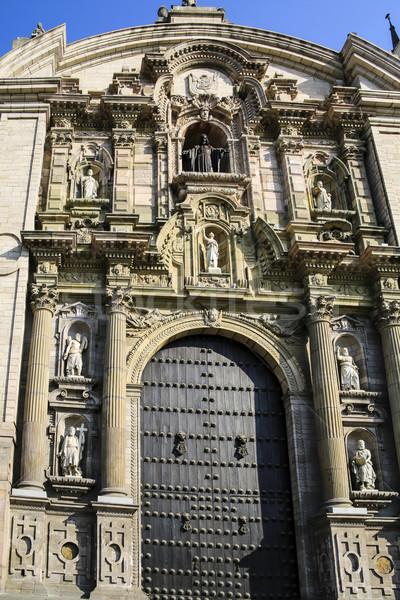 Catedral lima Peru edifício paisagem casa Foto stock © meinzahn