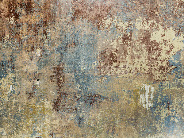 old grunge wall of an old house with remainings of color  Stock photo © meinzahn