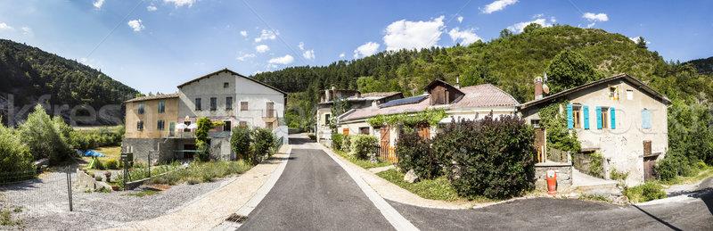 Küçük köy kod gökyüzü Bina evler Stok fotoğraf © meinzahn