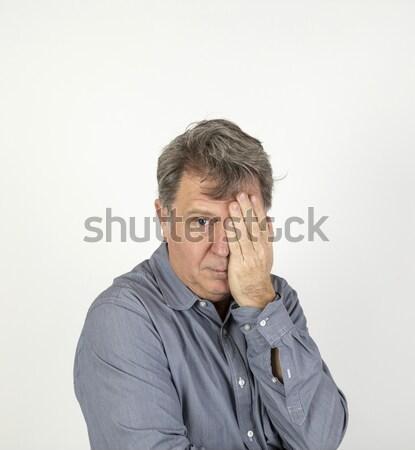 Retrato cinqüenta ano velho emoções Foto stock © meinzahn