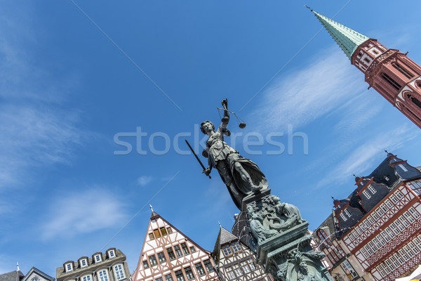Statue of Lady Justice, Justitia in Frankfurt  Stock photo © meinzahn