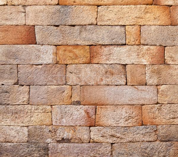 シームレス レンガ 歴史的 建物 デリー 抽象的な ストックフォト © meinzahn