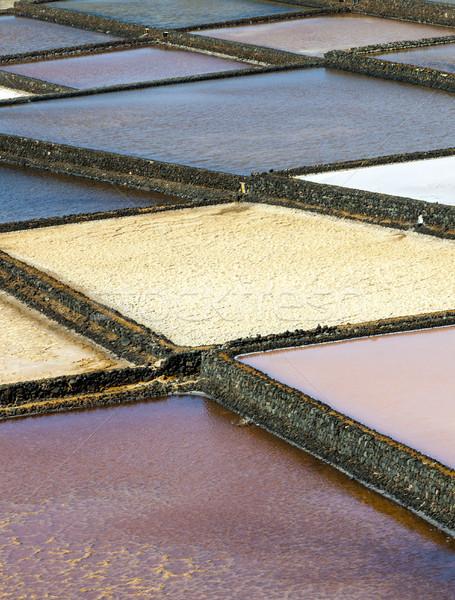 salt basins in saline de Janubio Stock photo © meinzahn
