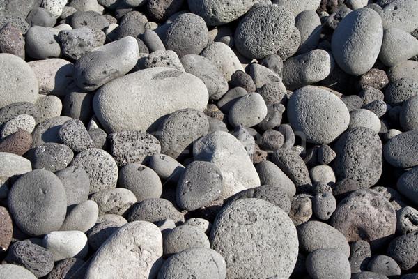 Vulcânico pedras praia formação pedra natureza Foto stock © meinzahn
