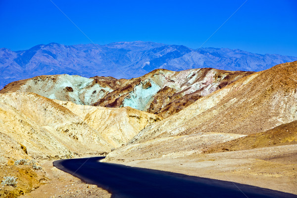Stock photo: Artists Drive road, Death Valley National Park