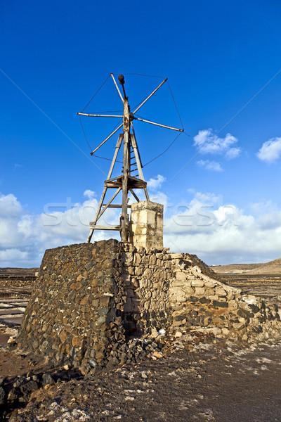 Salt refinery, Saline from Janubio, Lanzarote  Stock photo © meinzahn