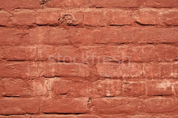 Vermelho parede de tijolos harmônico padrão sol casa Foto stock © meinzahn
