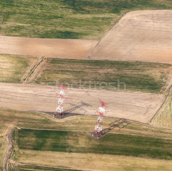 Stock photo: electrical pylon in rural area