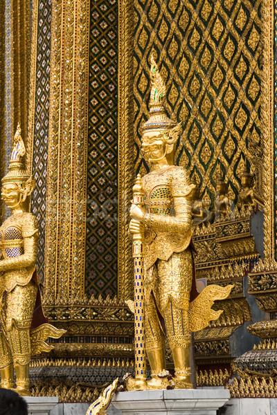 Bekçi saray Bangkok seyahat ibadet mimari Stok fotoğraf © meinzahn