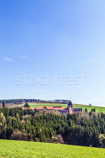 landscape with church of divine word missionaries Stock photo © meinzahn