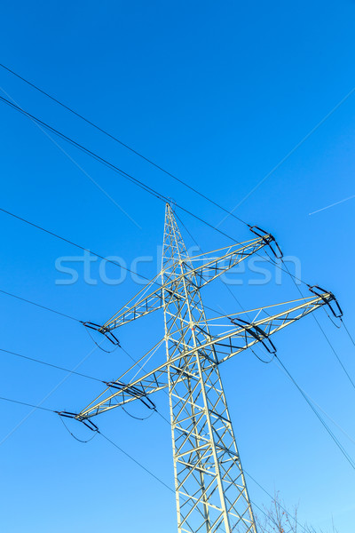 Transmission tower with power lines  Stock photo © meinzahn
