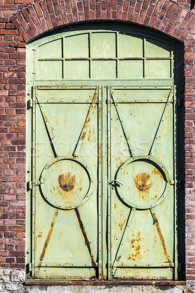 detail of old industrial brick building Stock photo © meinzahn