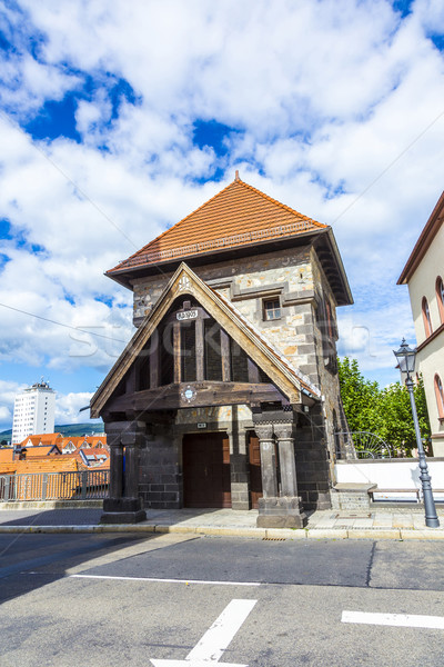 Part of the original drawbridge tower that lead to the castle in Stock photo © meinzahn