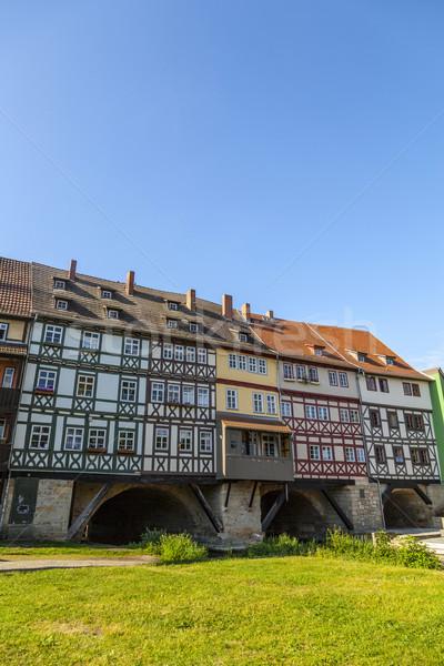 Casas puente Alemania dos estrecho Foto stock © meinzahn