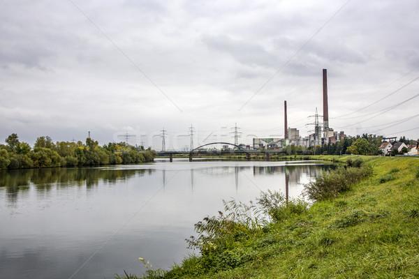 Centrale électrique principale rivière Allemagne paysage technologie Photo stock © meinzahn